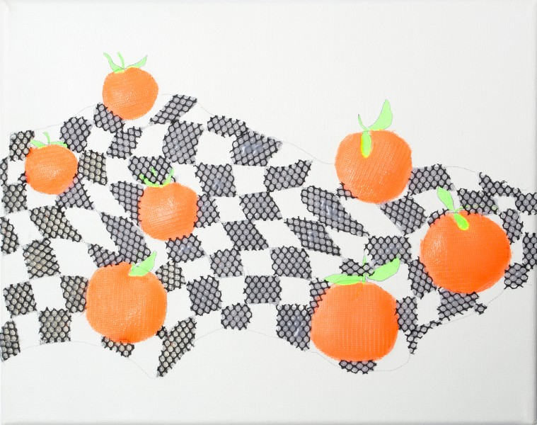 Still Life with 7 Oranges on the Finish Flag