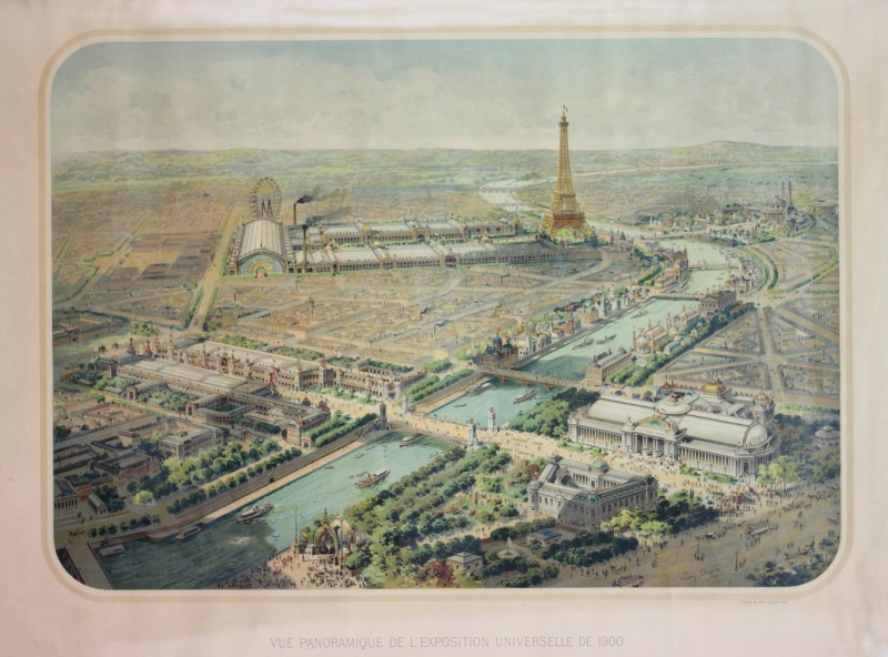 Vue panoramique de lexposition universelle de 1900